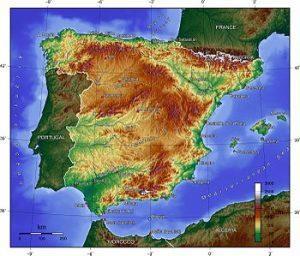 Morfologia: mały kontynent Hiszpania, CostaBlanca