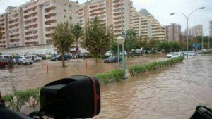 Powodzie spowodowały chaos w Calpe i w Benidorm, CostaBlanca